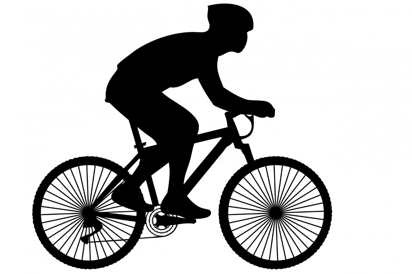Cyclist Black Silhouette Clipart Free Stock Photo - Public ...